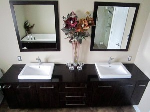 Unique Bathroom Cabinets Tacoma Traditional Powder Room With On