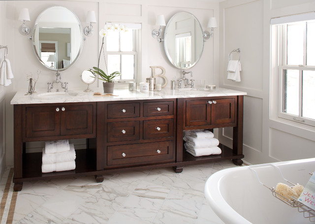 The Elegant French Feel Of This Custom Vanity ...