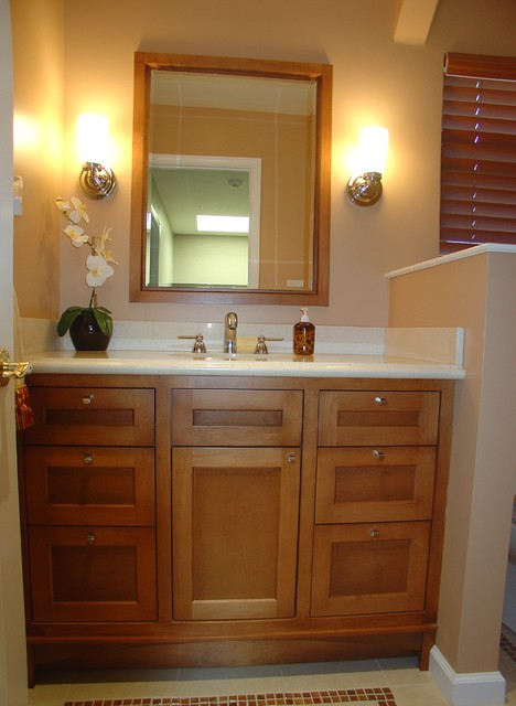 Custom bathroom vanity ideas north tacoma remodeling for Powder room vanities for small spaces